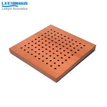 micro perforated mdf board wooden perforated acoustic wall panel
