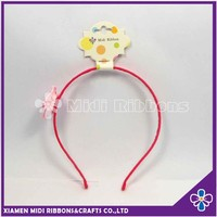 Selling Cheap Lady Hair Band With Pink Artificial Flower
