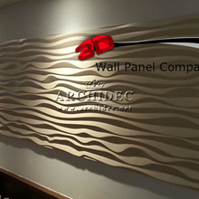 2017 hot sale high quality 3d mdf decorative wall panel for wall decor