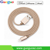 Wholesale 2016 New Products Gold Sync Data Charging Braided MFi Certified Cable for iPhone 6 MFi Cable
