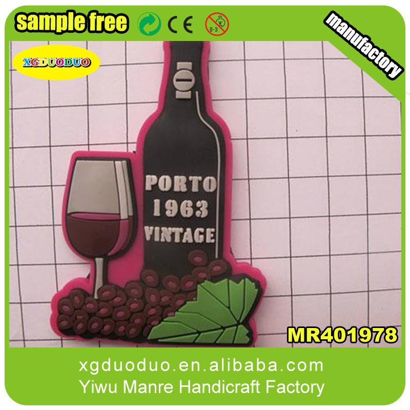 Bottle Shaped Promotional 3d Soft PVC Fridge Magnet