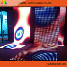 P25 Transparent Full Color Hd Flexible Programmable Outdoor Led Curtain Display