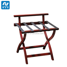 customized heavy duty solid wood luggage rack
