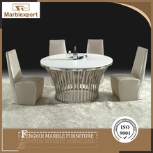 Competitive price waterproof dining round marble table tops