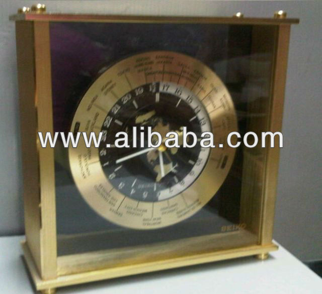 World Time Quartz Table Clock