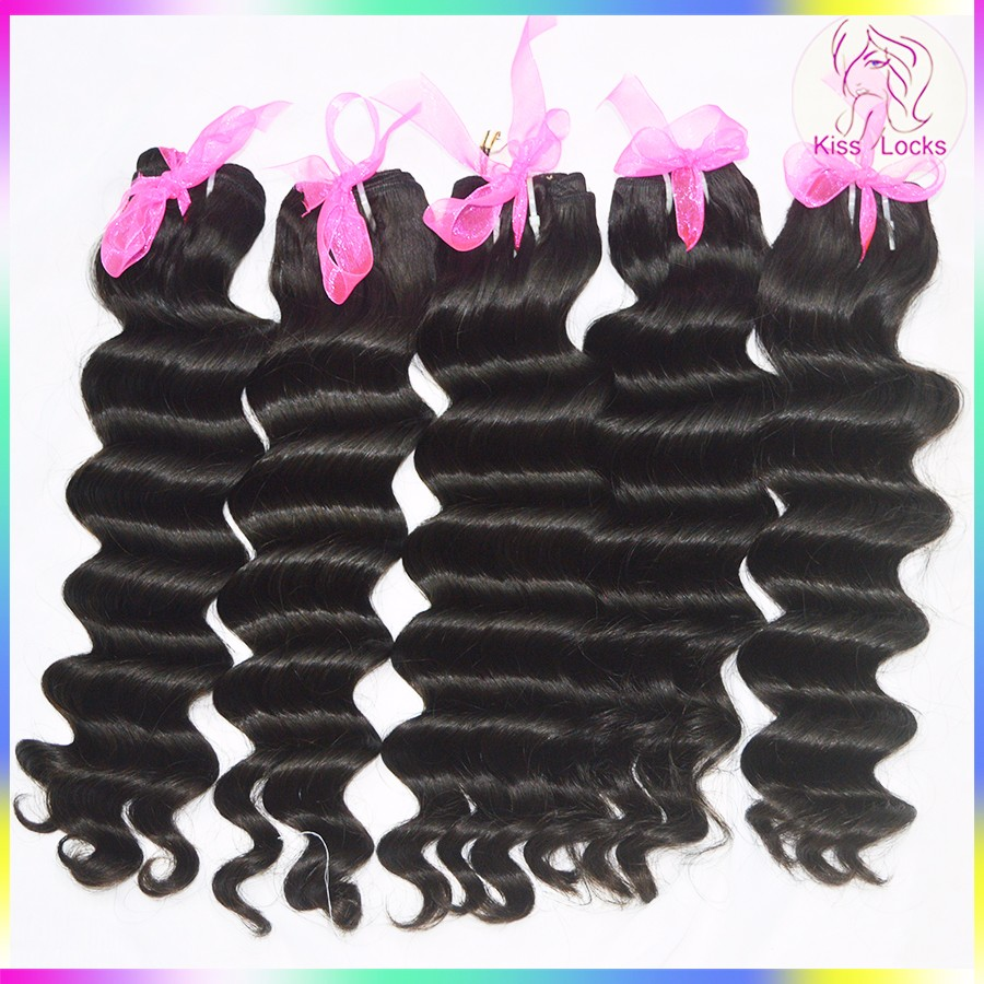 Machine Double Weft Cheap Price Ocean Wave Natural Color Grade 10A 100% Malaysian Real Virgin Hair weaving bundles Fast Shipping