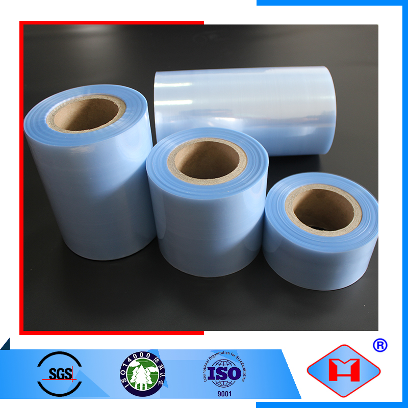 High gloss heat resistant recycled food packaging pvc plastic roll film