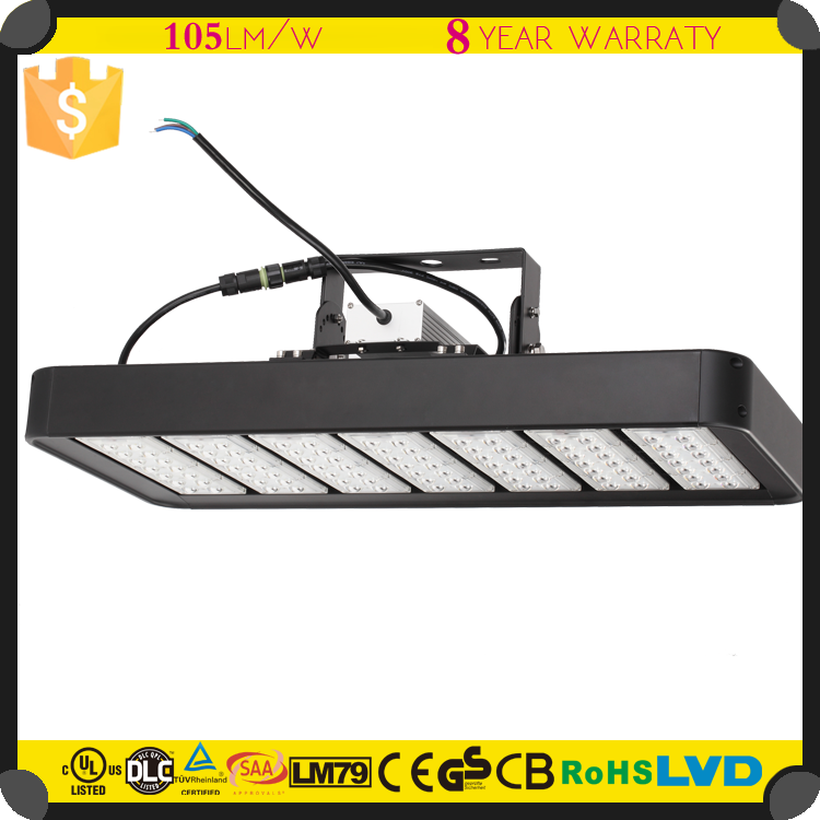 Aluminum Alloy LED Light Dimmable Construction Light 8 Years Warranty IP67 UL High Bay Light