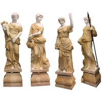 Hand Carved Stone Women Sculptures Four Season Marble Statue