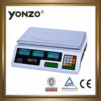 YZ-208 30kg electronic price computing LED or LCD display digital waterproof excel precision balance scale weighing scale