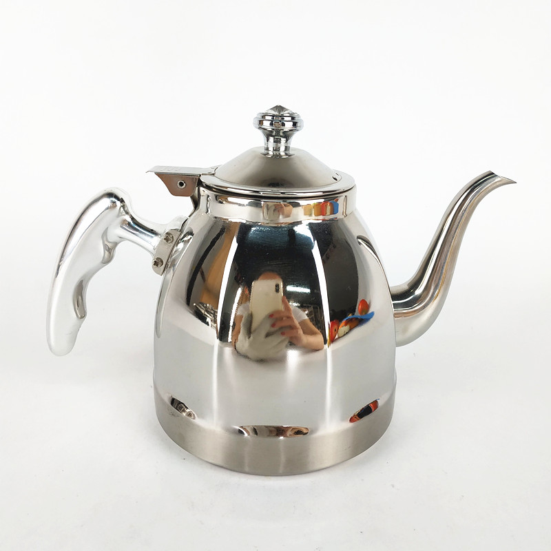 Amazon Hot Sale Stainless Steel Tea Pot Pour Over Drip Gooseneck Coffee Kettle with thermometer