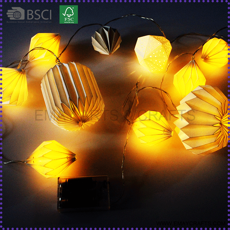 handmade lantern paper lampshades with led lights