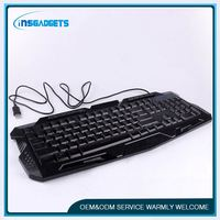 Laser computer keyboards ,h0t8e wired led gaming keyboard for sale