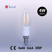 candelabra C35 candle bulb 2w 4w dimmable E12 UL standard filament led bulb