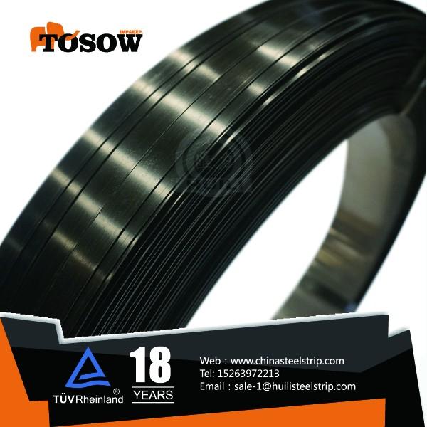 sae1012 sae1008 grade black painted steel strapping band