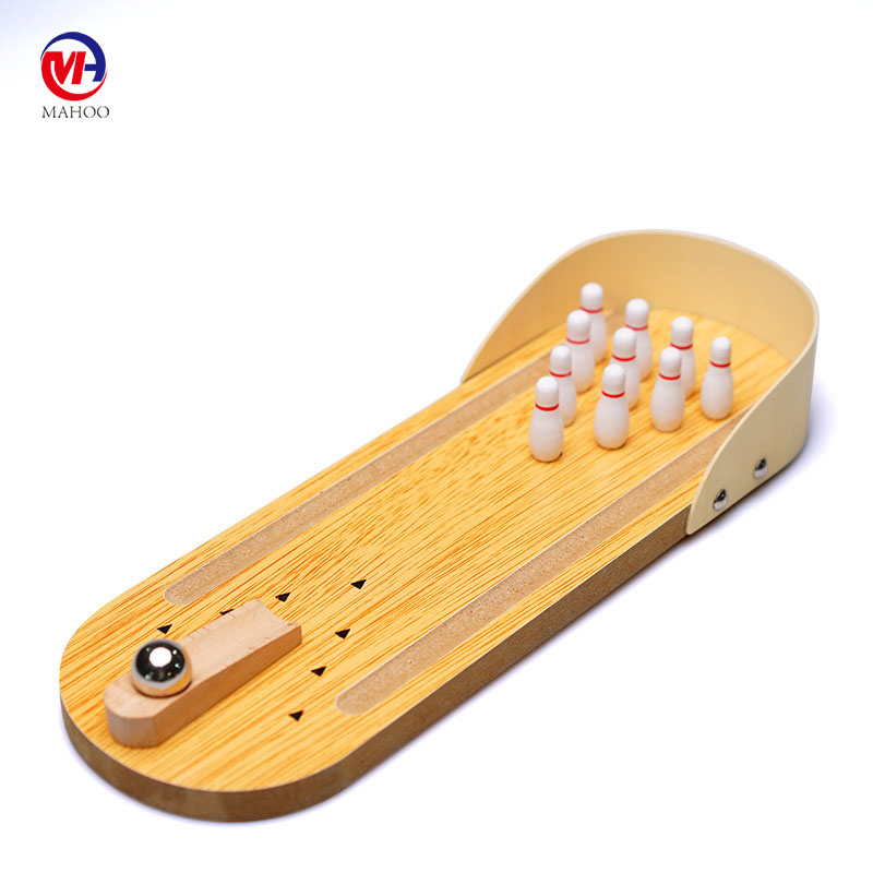 Factory direct Table Top game Mini Wooden Desktop Bowling Game funny game for kids