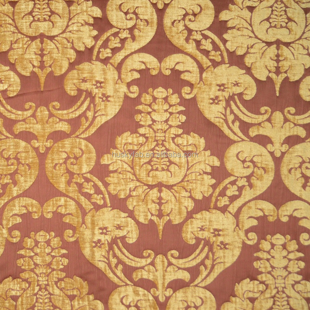Chenille Jacquard Fabric for Sofa