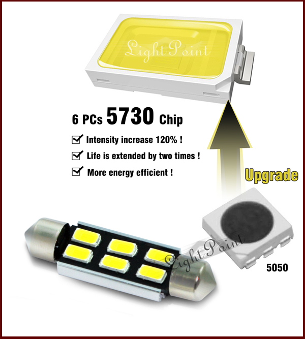 Lightpoint factory price wholesale 12v high lumen 31mm 36mm 39mm 42mm c5w 5730 festoon canbus error free LED auto lamp