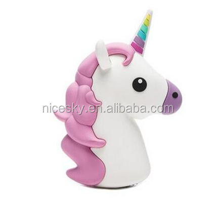 New products 2016 innovative unicorn emoji 2600mah power bank for apple mobile phone