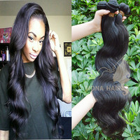 Best selling product in USA body wave soft and tangle free virgin malaysian hair bundles