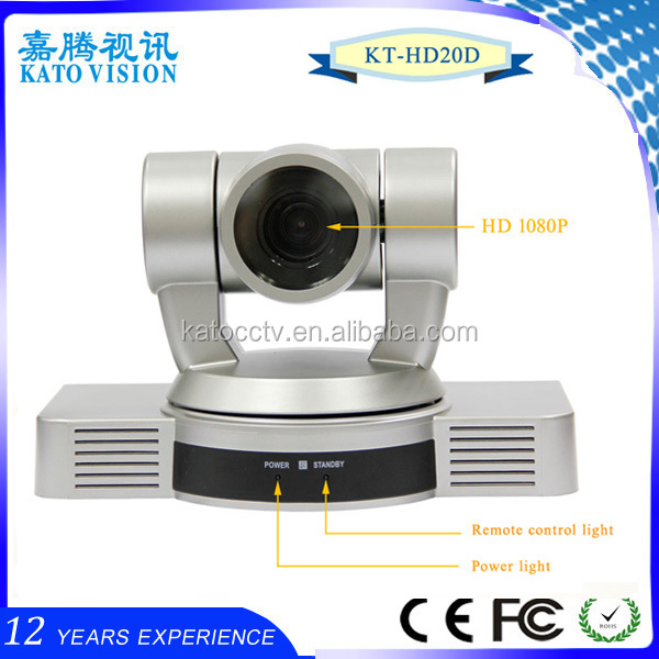10X optical zoom 1080P Full HD skype 60.9 deg hd camera