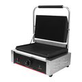 Single and Double Plate Grooved Surface Electric Grills Panini For Fast Food Restaurant Shop