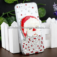 IMPRUE Santa Claus 3D Crystal Bling Stone Case For Apple Iphone5 With Retailer Package