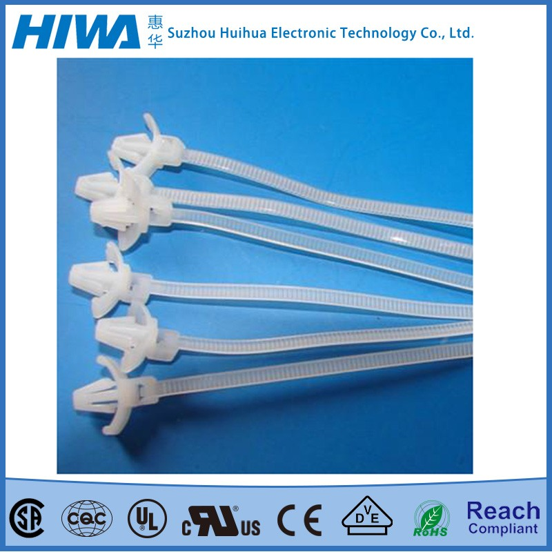 new releasable push mount releasable plastic cable ties strap for wholesales