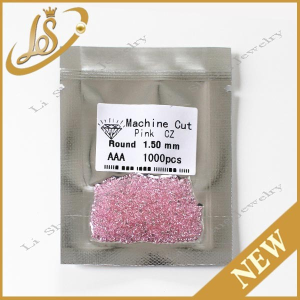 Hot sale can be high temperature resistant pink cz gemstone