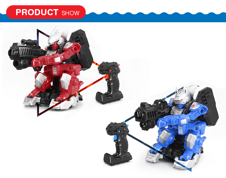 New generation plastic remote control fighting robot toy with infrared gun
