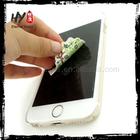 Superfine sticky phone cleaning cloth,microfiber mobile phone screen cleaner sticker,promotional sticky cleaning cloth