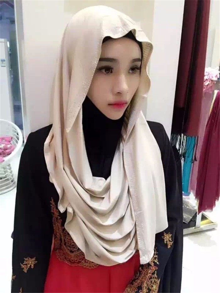 Hot Sale Muslim Hijab Fashion Scarf Malaysia Arab Jibab