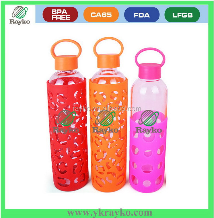 Manufacturer glass drink water bottle with FDA