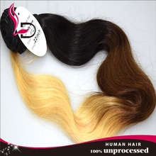 High grade fashion noble remy hair tangle free shedding free T 1b 99j 613 body wave colored brazilian hair