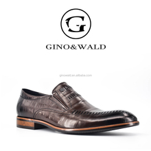 GINO&WALD italian Brand names mens pure leather shoes