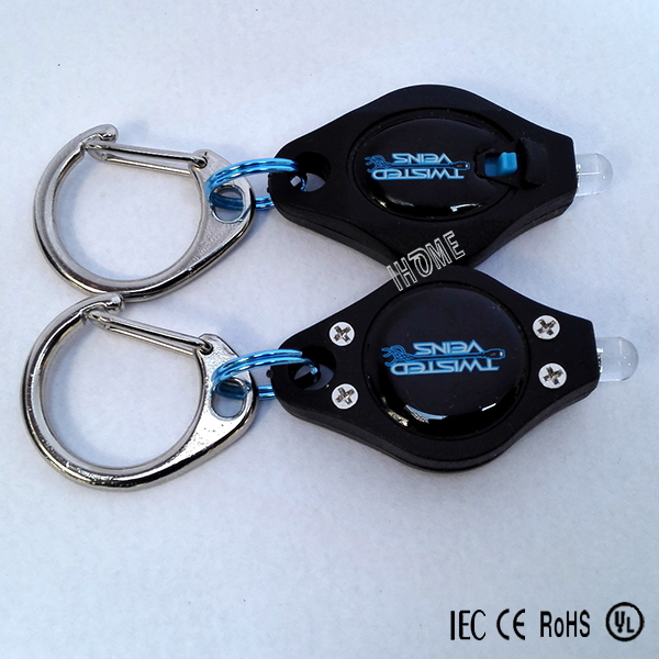 Promotional Mini Plastic Torch Keychain Flashlight LED Key Chains