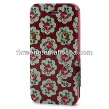 FL257 hot selling Floral Series leather case for iphone 5s