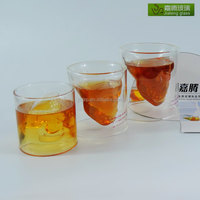 Personalized borosilicate glass material creative crystal skull beer glass mug with handles