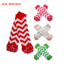 Newest Yiwu Baby Leg Warmers Boy's Girls' Legging Tights Christmas Socks Infant Toddler Ruffle red white stripe Leg warmer Baby
