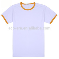 200g 65 Cotton 35 Polyester Color Collar T-shirts , Custom Logo Print , Wholesale Fitness Wear Order From 50 Pieces
