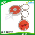 Winho customed round led key chain