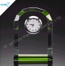 Colorful Personalized Novelty Round Crystal Funny Desk Clocks