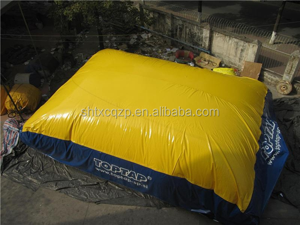 Durable air inflatable bag/ inflatable jump air bag for skiing