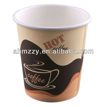 Easy to store Printed disposable paper coffee cups