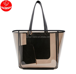 transparent beach tote ladies shoulder jelly bag