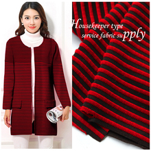 POLY SPAN KNIT JARQUARD FABRIC STRIPE JACQUARD FABRIC FOR COAT