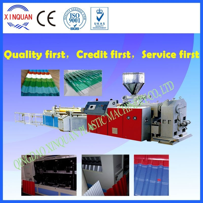 PVC colored corrugated roofing sheets profiling machine