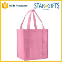 Promotional Cheap Recycled Custom Logo Reusable Non woven Folding Shopping Bag