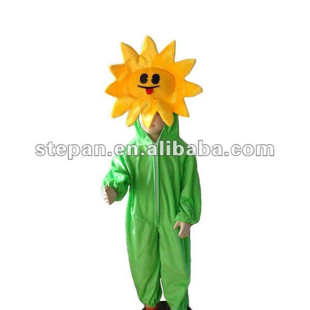 TC-65012-B foam head mascot costume,sunflower mascot costume for kids