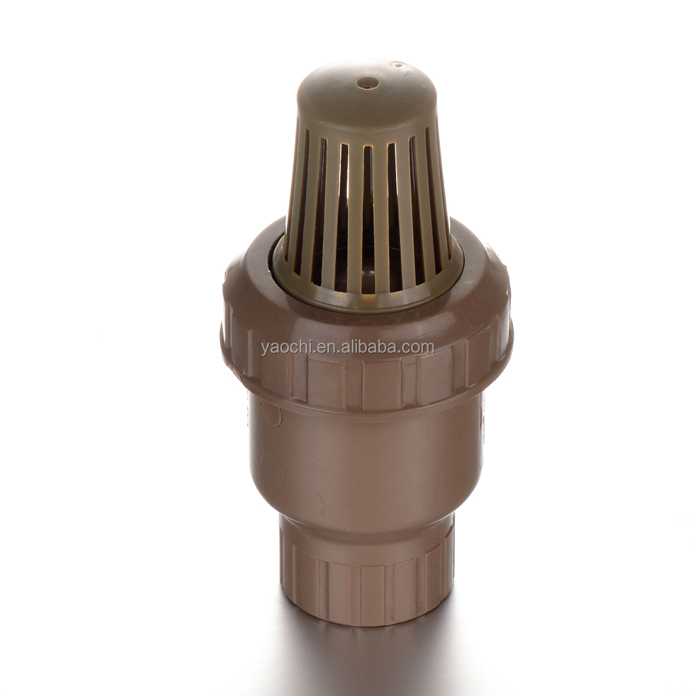 China manufacturing reasonable price PVC foot valve